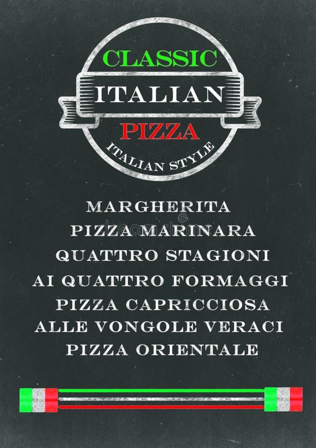 Menu de tableau de pizza illustration libre de droits