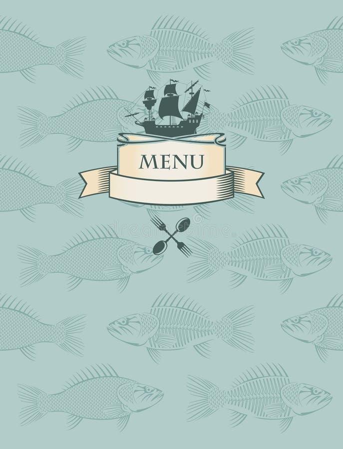 Menu dei pesci royalty illustrazione gratis