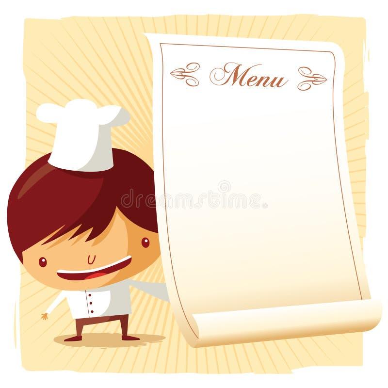 Menu del cuoco unico illustrazione vettoriale