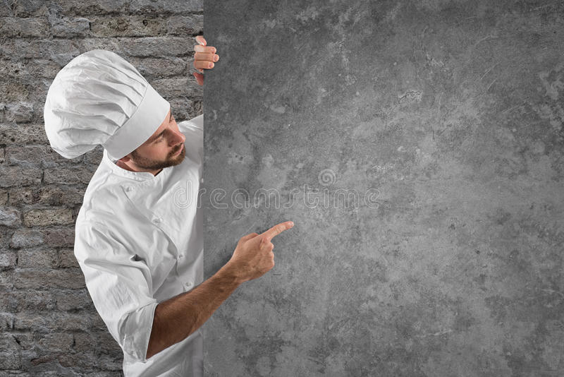 Menu del cuoco unico fotografia stock libera da diritti