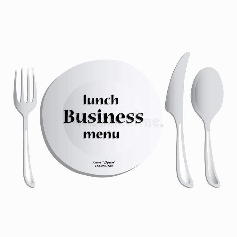 Menu del pranzo di lavoro, vettore illustrazione di stock