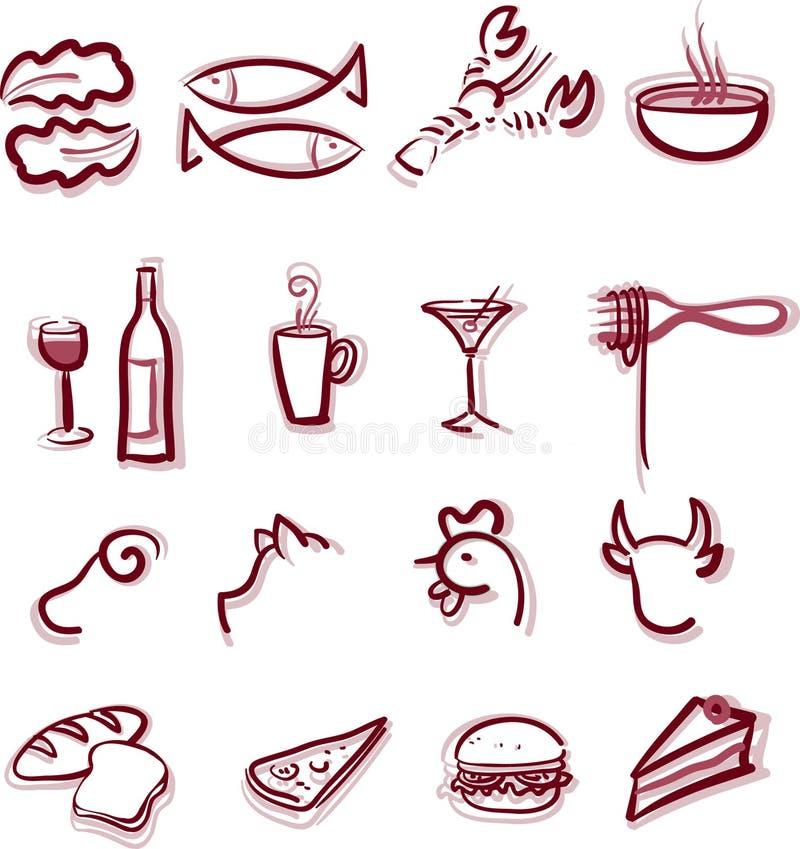Menu del ristorante illustrazione di stock