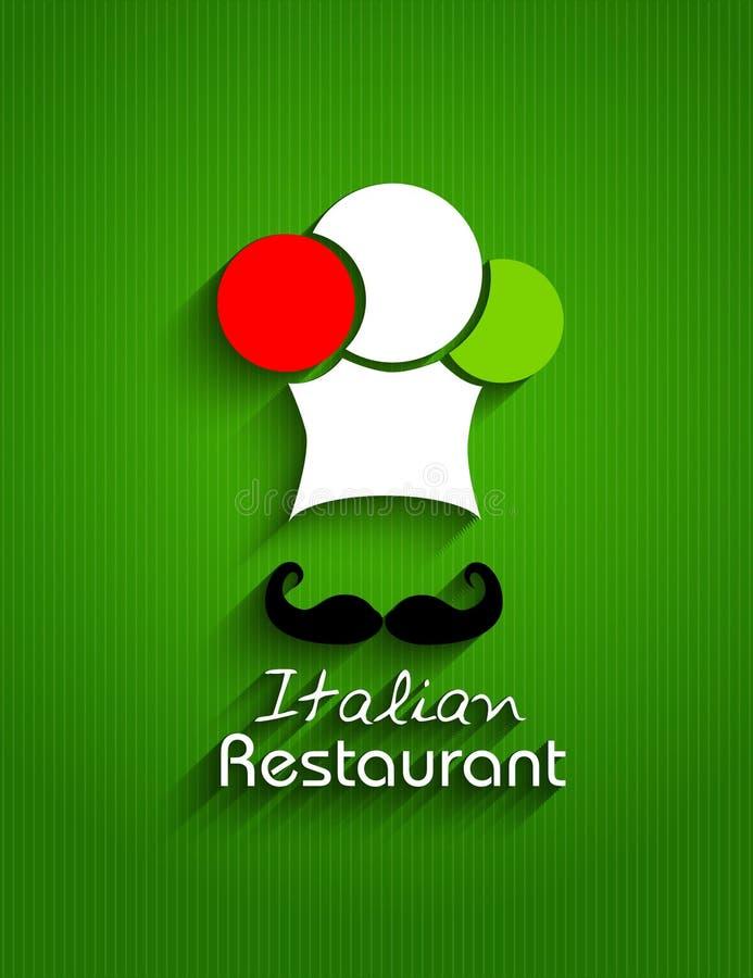 Menu del ristorante illustrazione vettoriale
