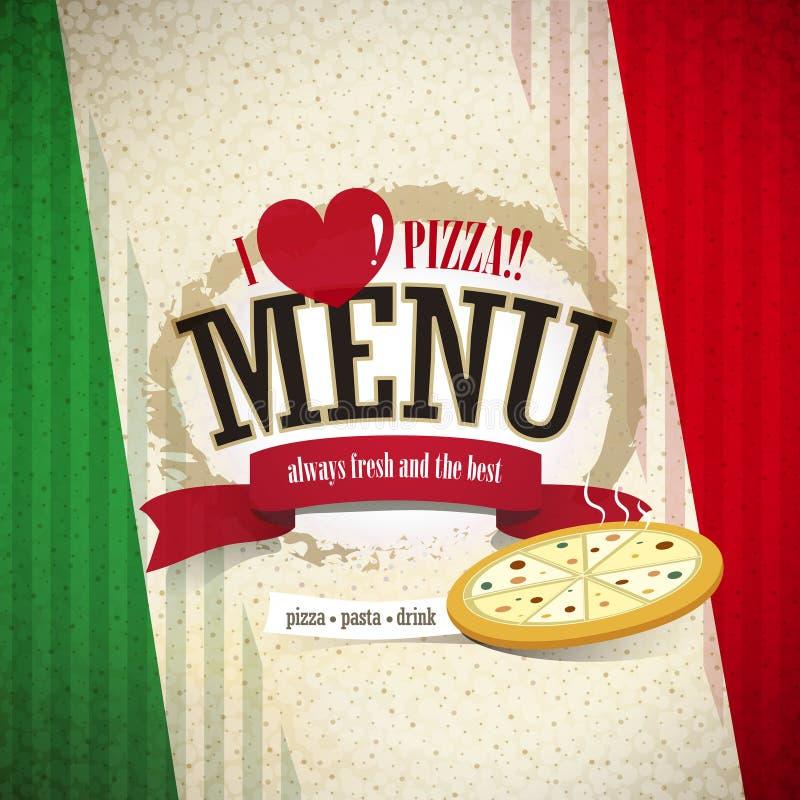 Menu della pizzeria illustrazione di stock
