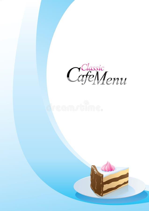 menu deserowy szablon ilustracja wektor