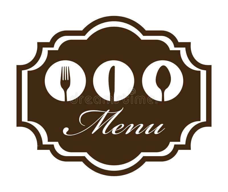 Menu design. Over white background vector illustration royalty free illustration
