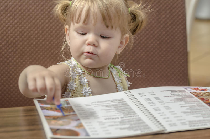 Menu di bambino fotografia stock