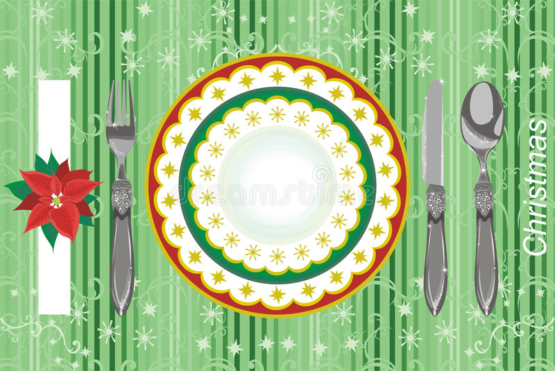 Download Menu di natale illustrazione vettoriale. Illustrazione di regolazione - 7308281