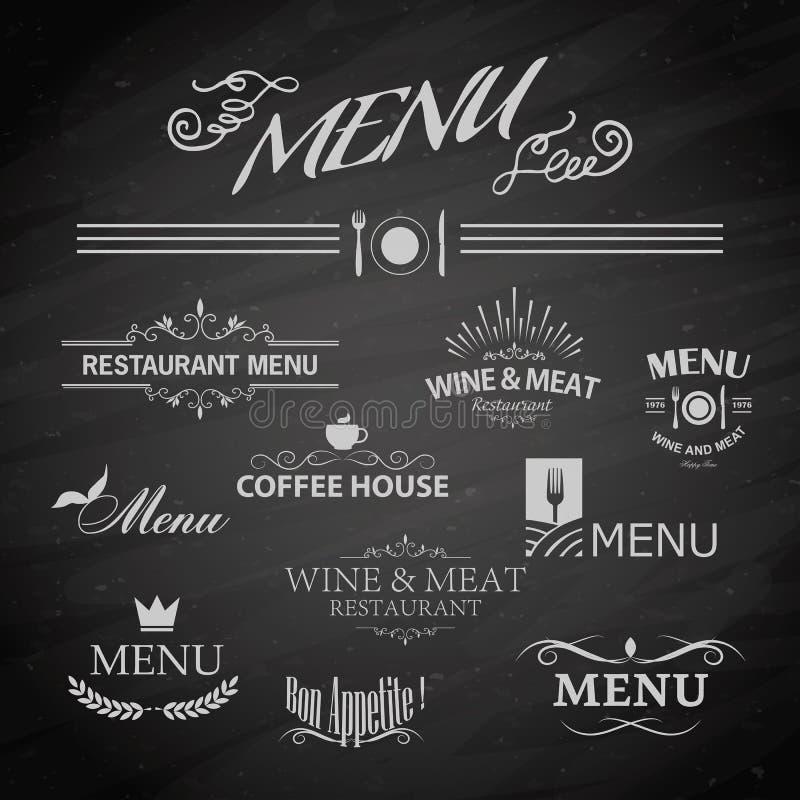 Menu dla restauraci royalty ilustracja