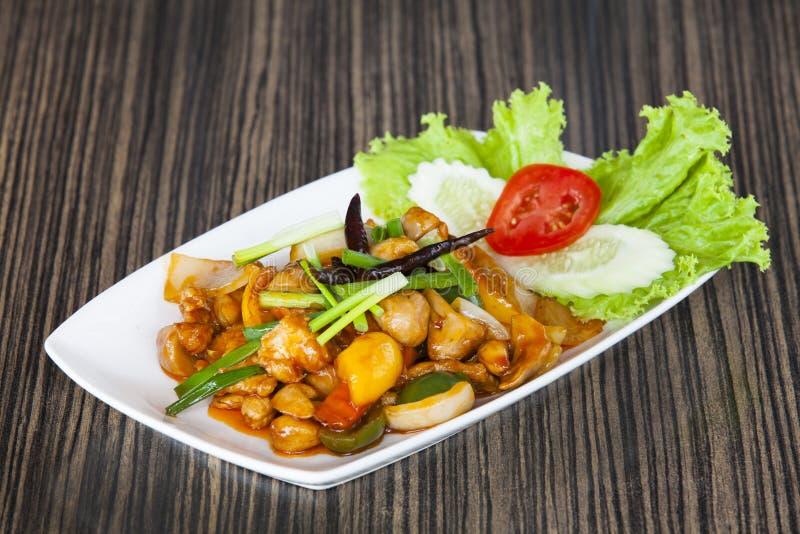 Menu do alimento de Tailândia imagens de stock