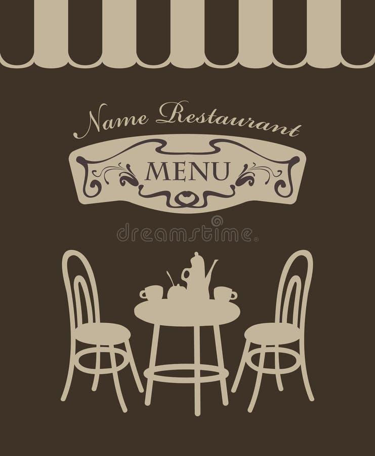 Menu do café ilustração royalty free