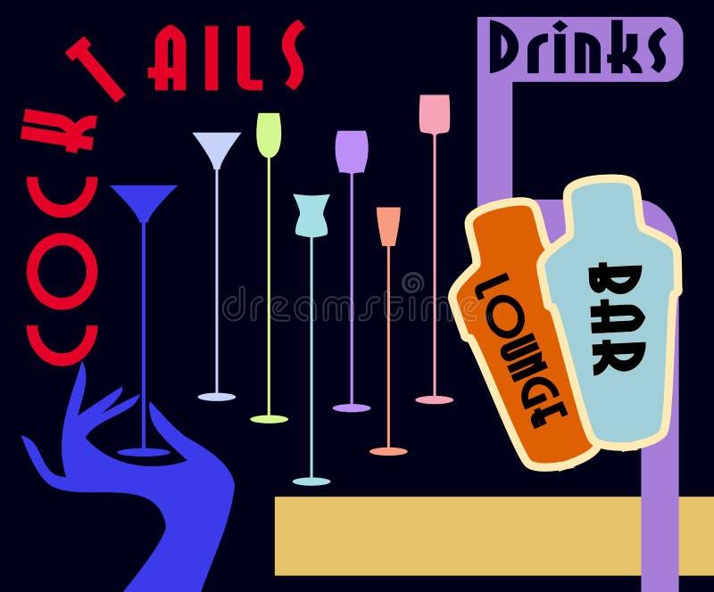 Menu do cocktail ilustração do vetor