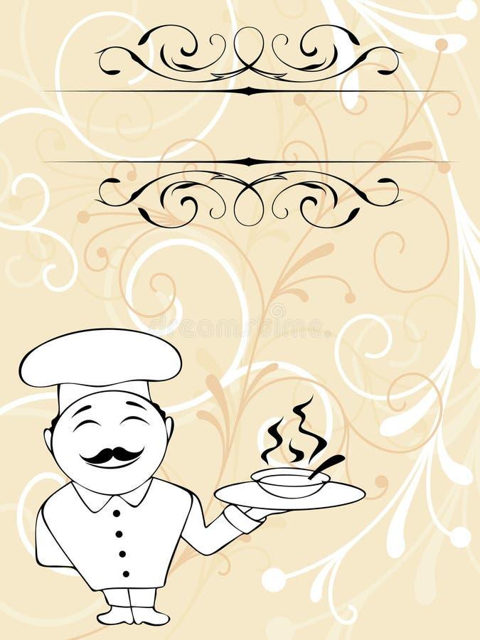 Menu do cozinheiro chefe ilustração royalty free