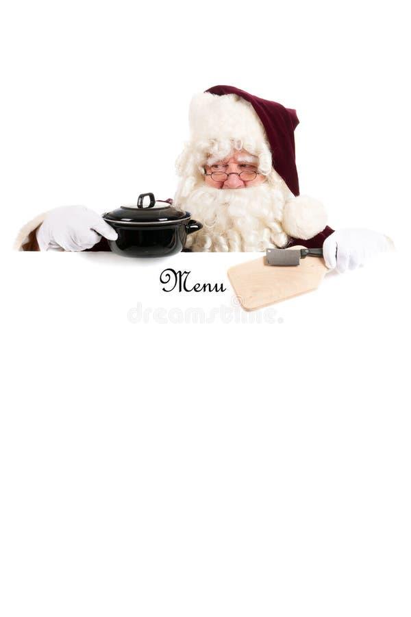 Menu do Natal imagens de stock royalty free