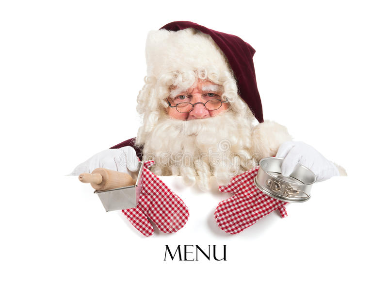 Menu do Natal imagem de stock