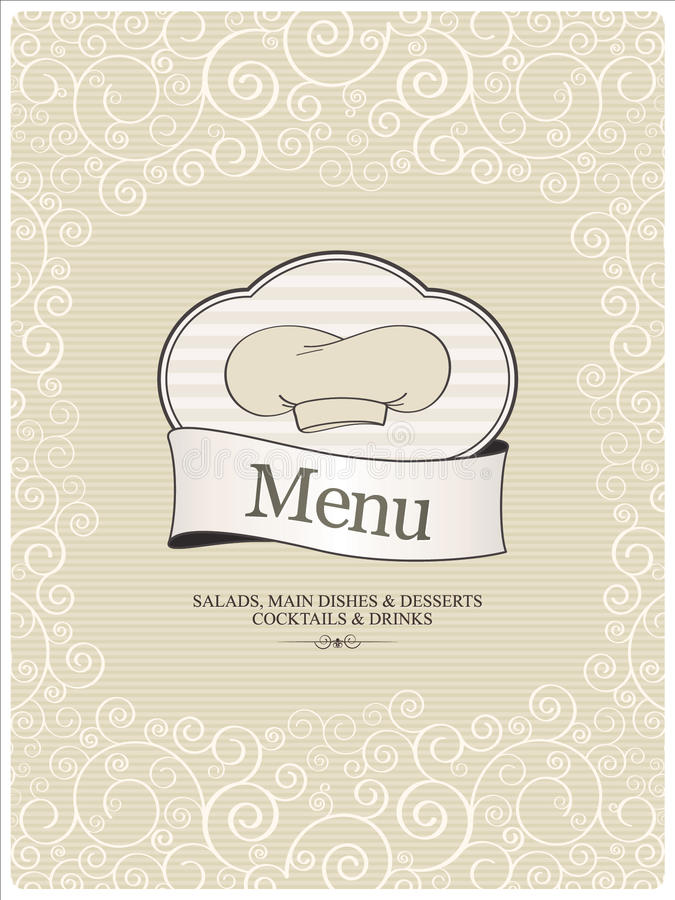 Menu do restaurante ilustração do vetor