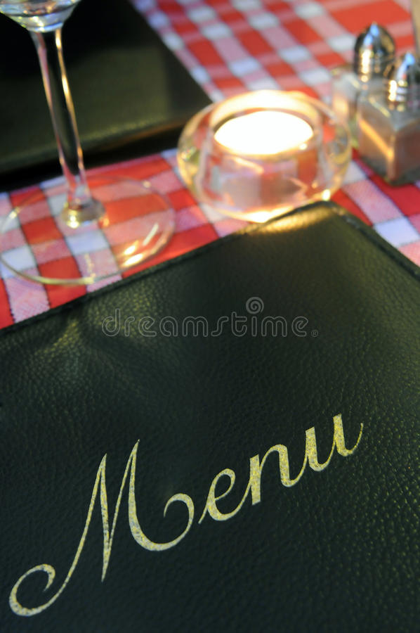 Menu do restaurante fotografia de stock