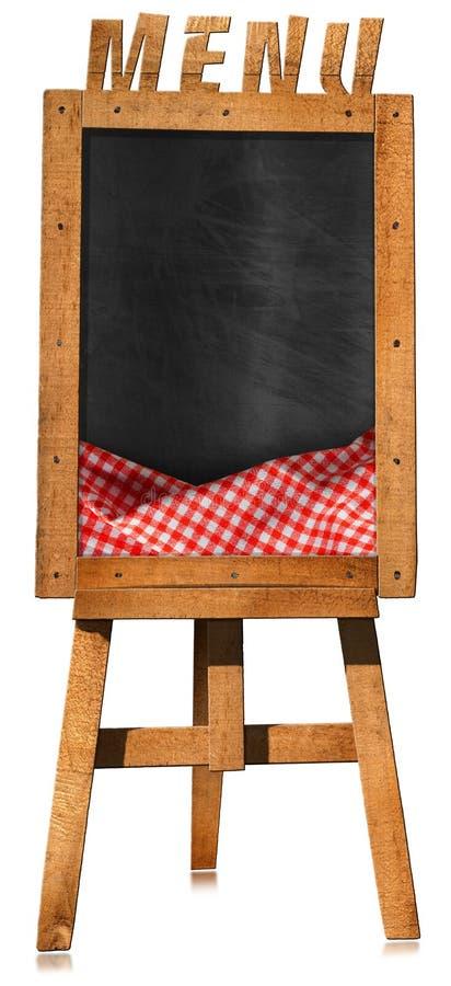 Menu do restaurante - quadro-negro vazio em uma armação ilustração stock