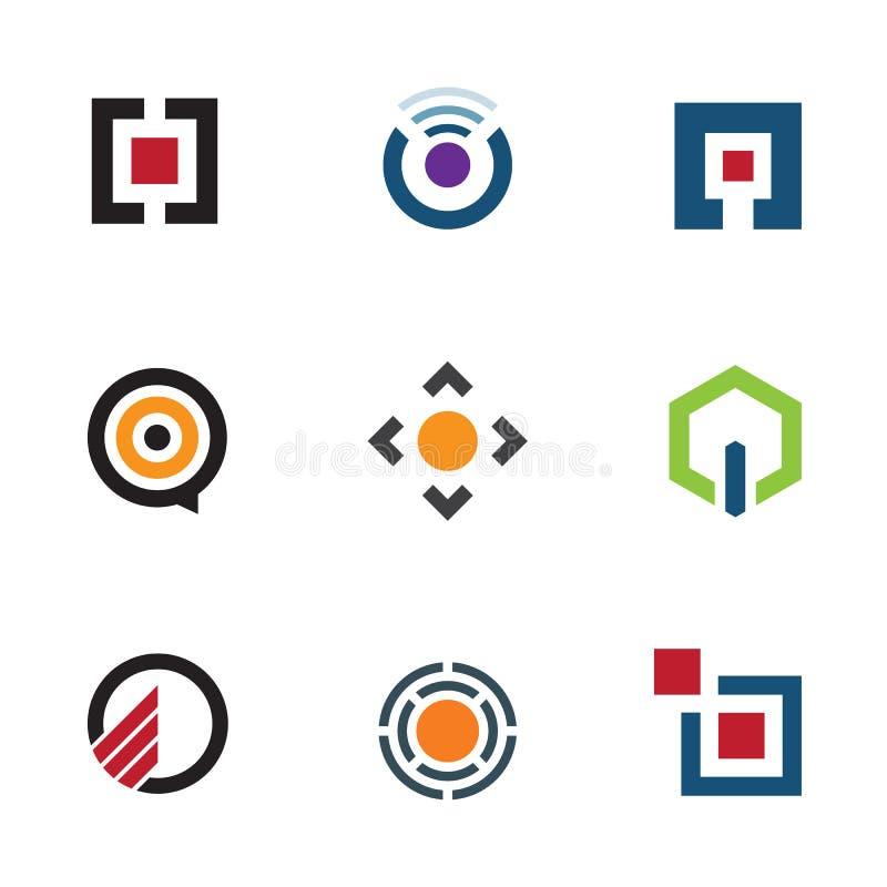 Menu do software de aplicação que compartilha de ideias para o ícone futuro móvel do logotipo ilustração do vetor