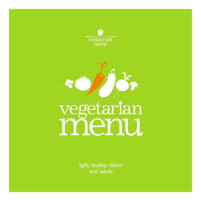 Menu do vegetariano do restaurante. ilustração do vetor