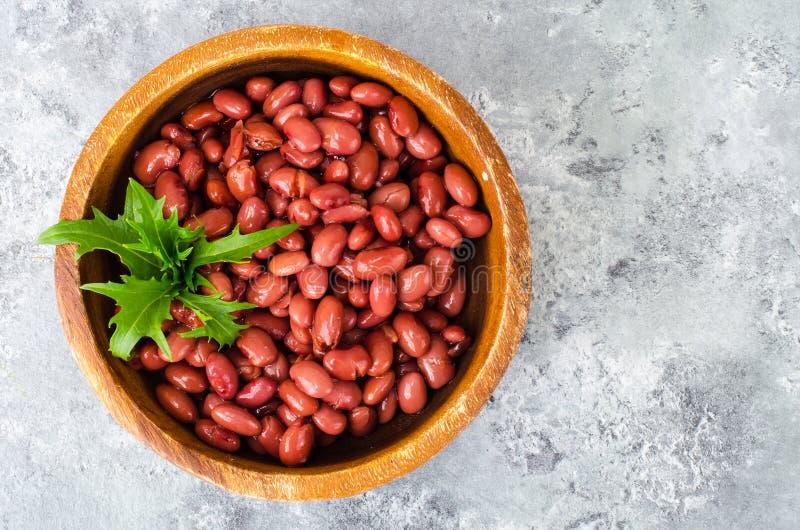 Menu do vegetariano Pratos dos feijões vermelhos imagens de stock royalty free