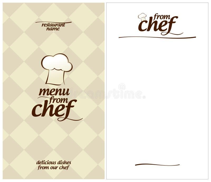 Menu especial do cozinheiro chefe. ilustração do vetor