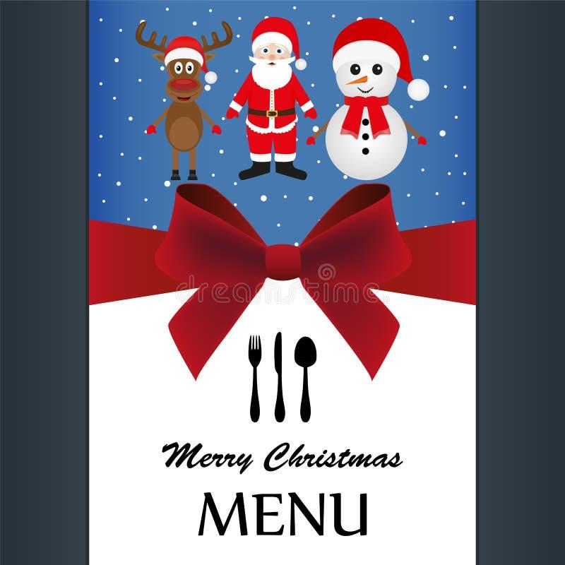 Menu especial do Natal ilustração do vetor
