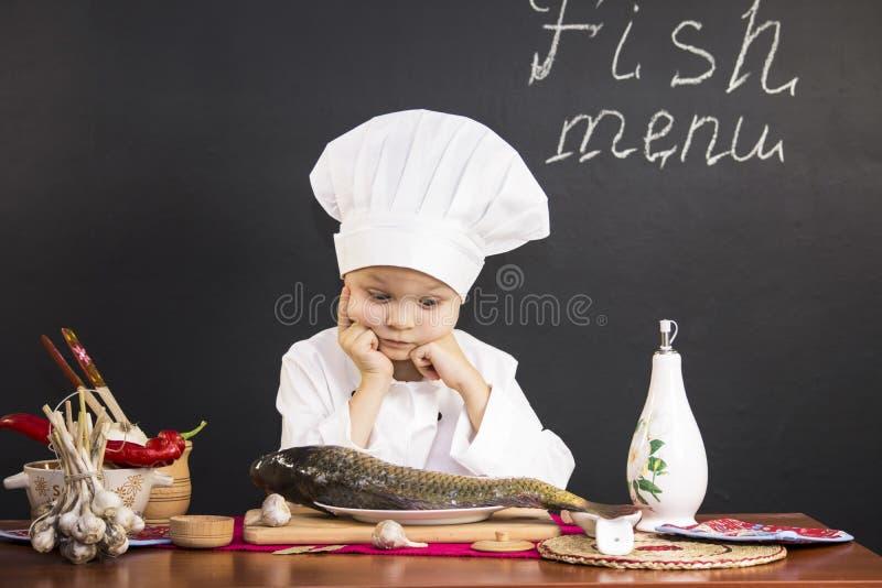 Menu of fish stock photography