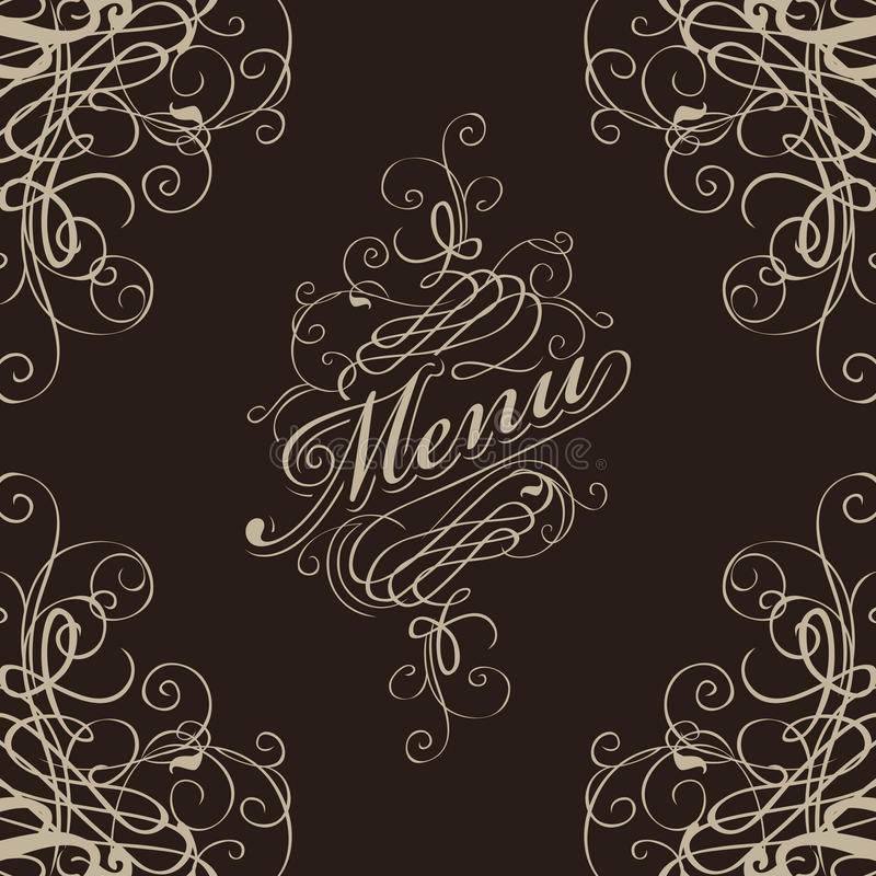 Download Menu with a flourish stock vector. Illustration of elegant - 28472520