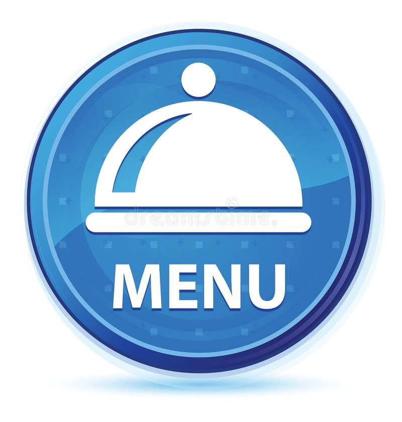 Menu (food dish icon) midnight blue prime round button. Menu (food dish icon) isolated on midnight blue prime round button abstract illustration royalty free illustration