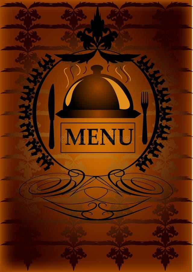 Menu générique de restaurant illustration stock