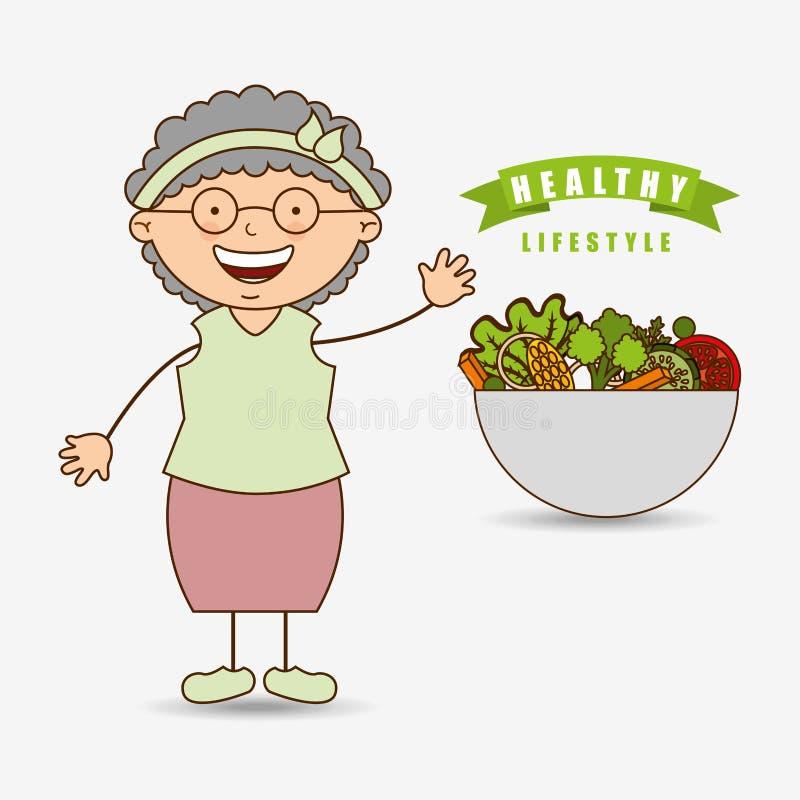 Menu grandparents design. Illustration eps10 graphic royalty free illustration