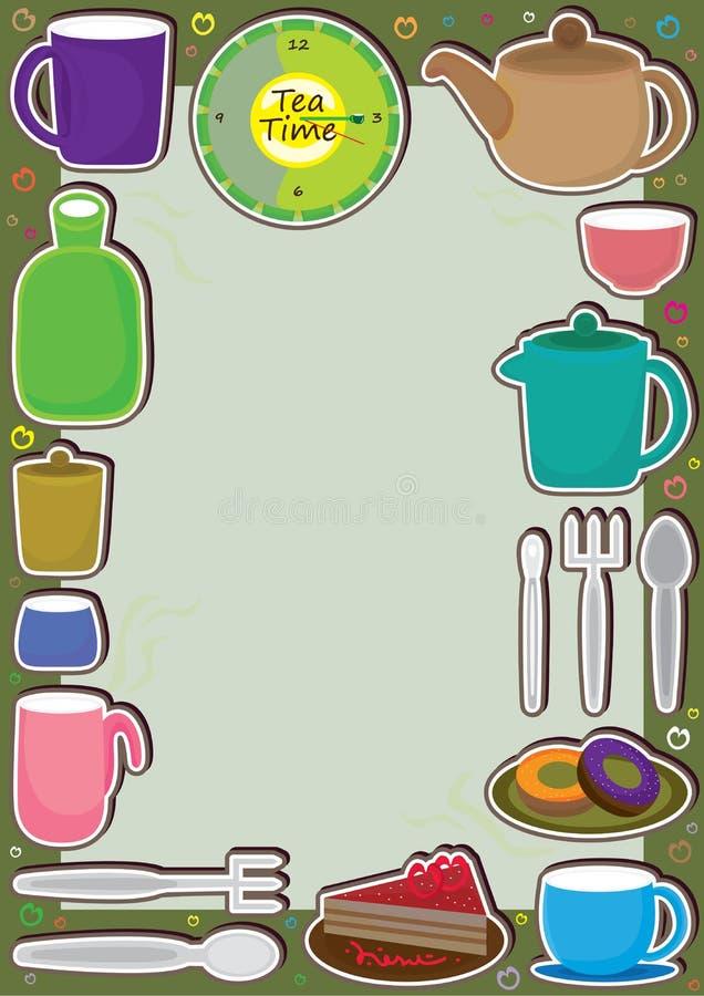 Menu herbaciana Rama ilustracja wektor