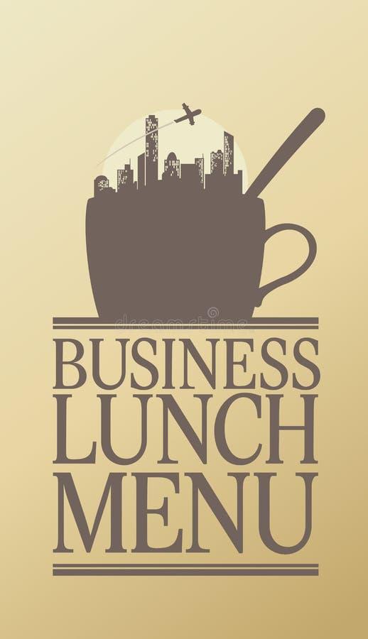 Menu het bedrijfs van de Lunch. royalty-vrije illustratie