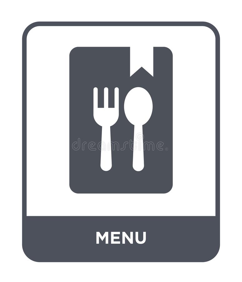 menu icon in trendy design style. menu icon isolated on white background. menu vector icon simple and modern flat symbol for web royalty free illustration