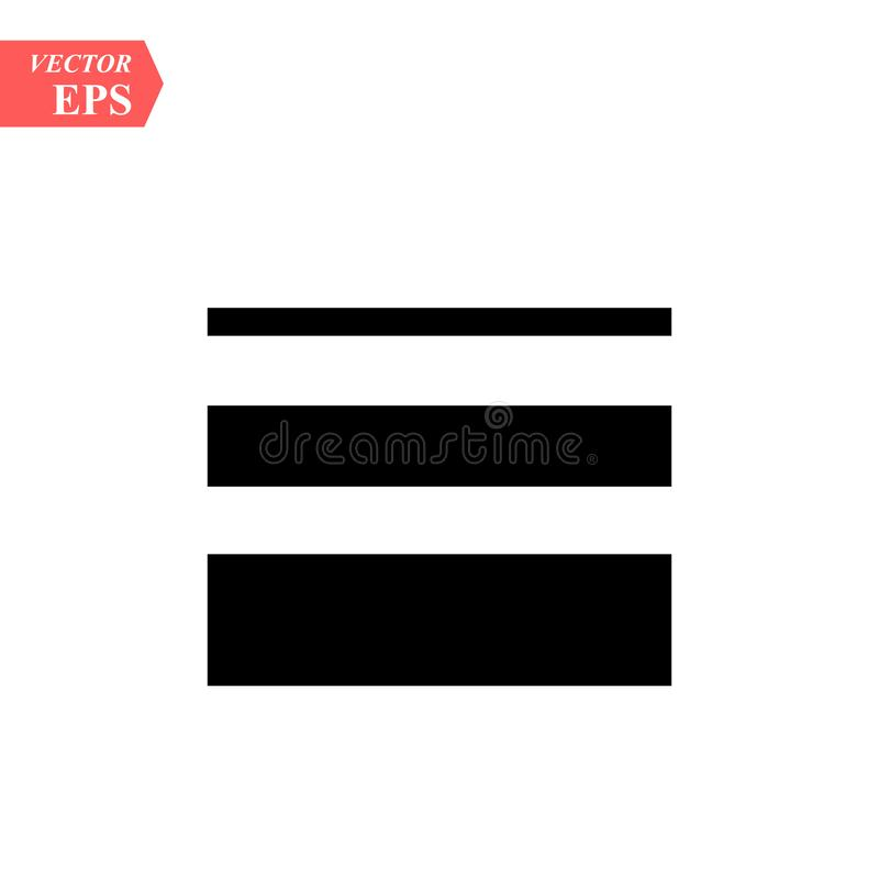Menu Icon in trendy flat style isolated on grey background, for your web site design, app, logo, UI. Vector illustration, EPS10. Menu Icon in trendy flat style royalty free illustration