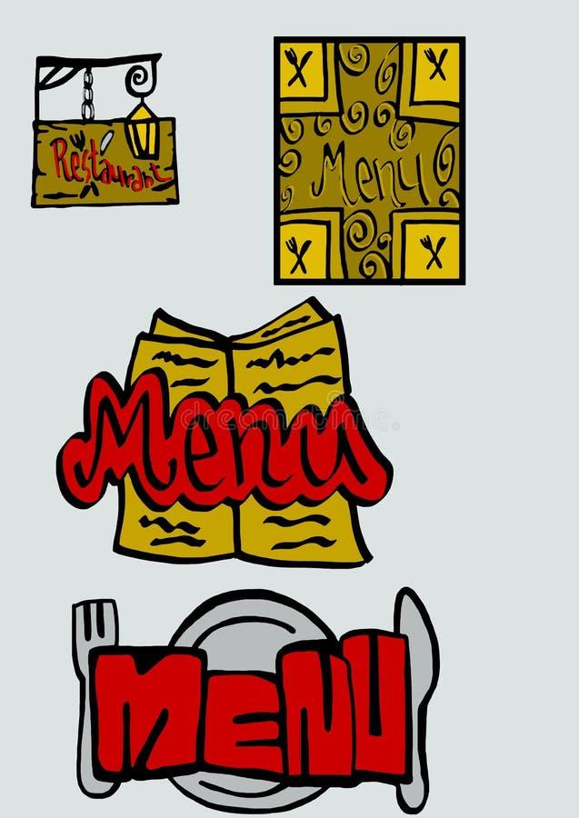 Download Menu stock illustration. Image of menu, style, silverware - 36684858