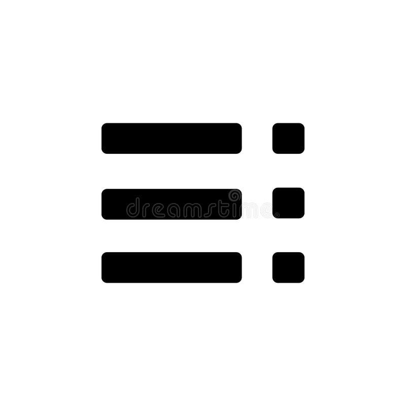 Menu ikona Element minimalistic ikona dla mobilnych pojęcia i sieci apps Znaki i symbol inkasowa ikona dla stron internetowych, s royalty ilustracja