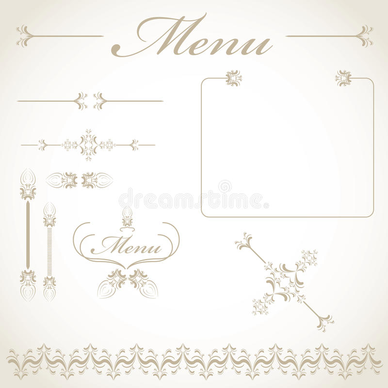 Download Menu items stock vector. Illustration of decoration, illustration - 17905060