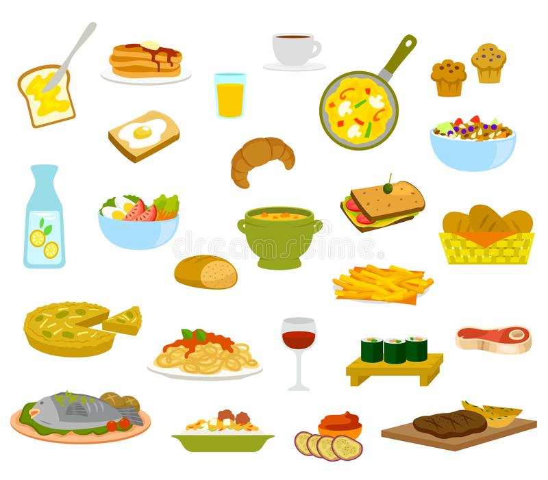Daily Menu Items vector illustration