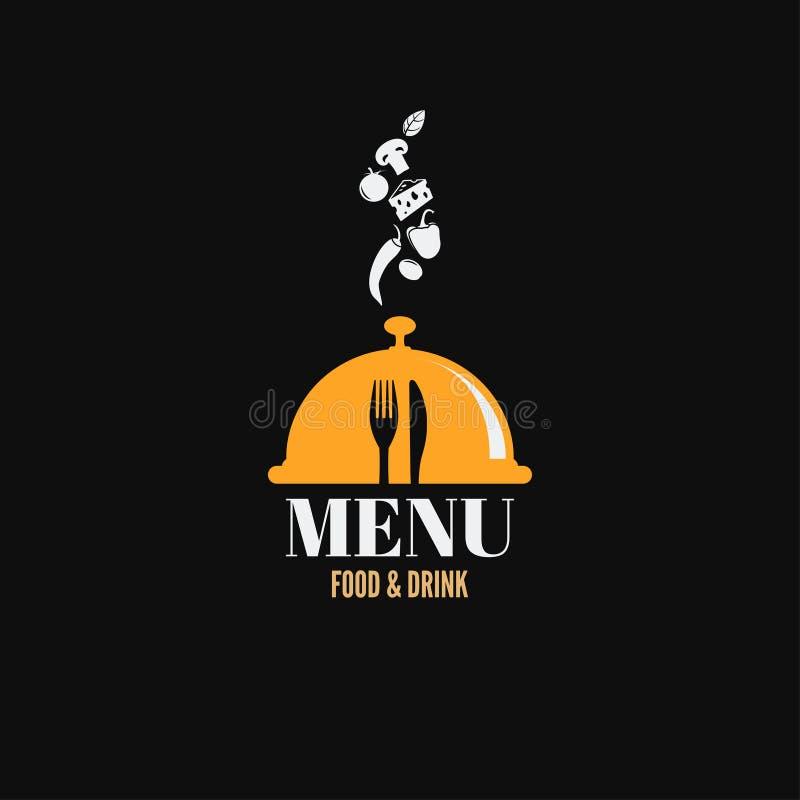 Menu jedzenie i napoju projekt ilustracja wektor