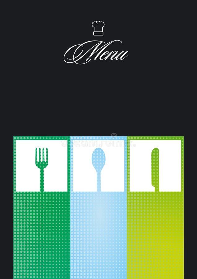 menu karciana restauracja ilustracji