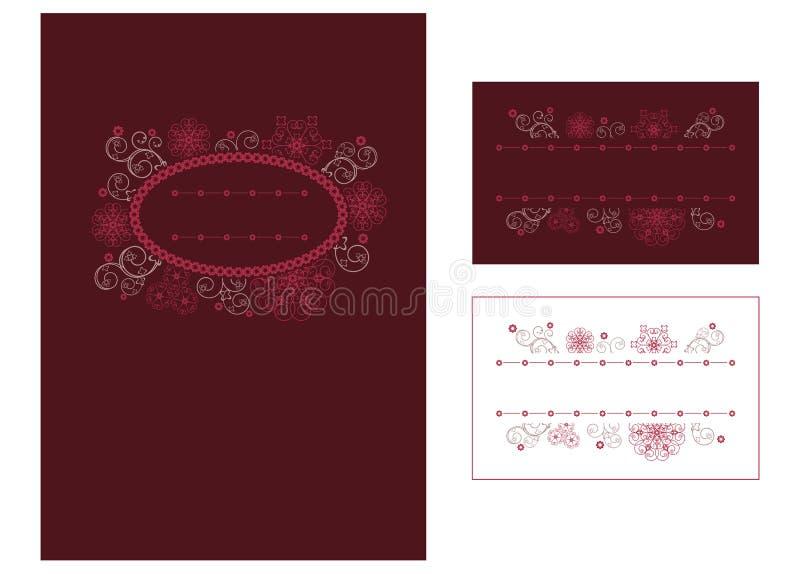 menu karciany miejsce royalty ilustracja