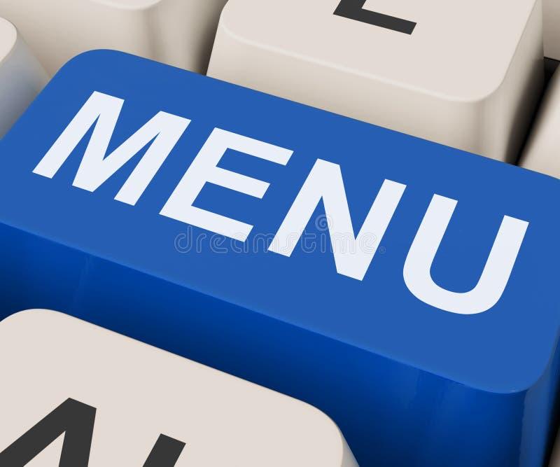 Menu Keys Shows Ordering Food Menus Online. Menu Keys Showing Ordering Food Menus Online stock images