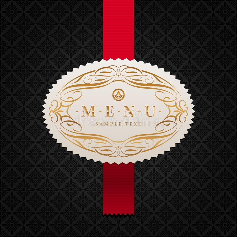 Free Menu Label With Calligraphic Ornament Royalty Free Stock Photo - 19538495