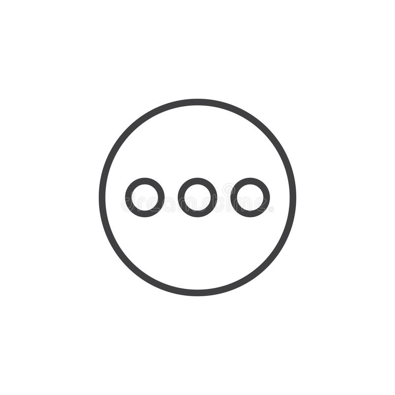 Menu, more circular line icon. Round simple sign. royalty free illustration