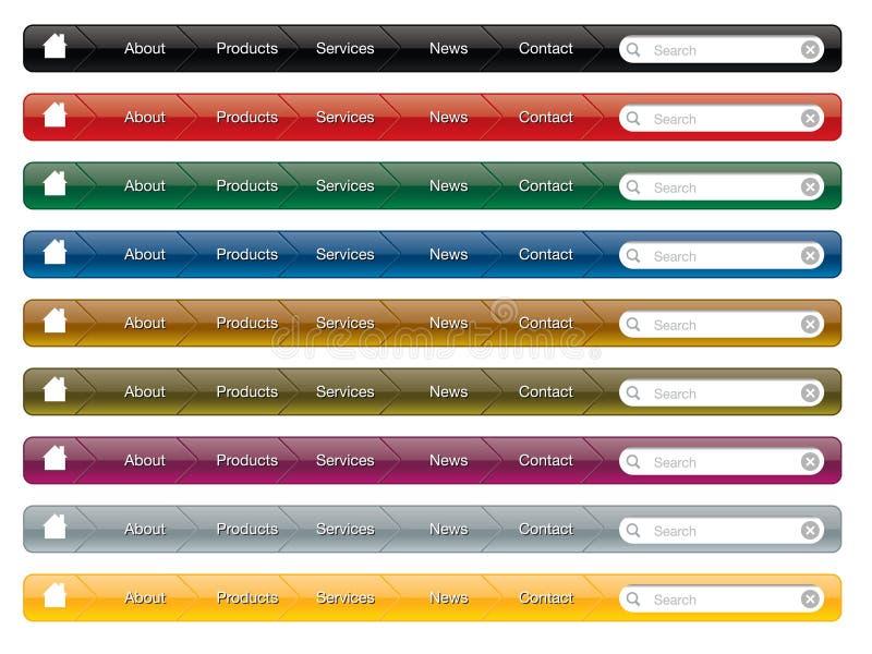 menu nawigaci strona internetowa ilustracja wektor
