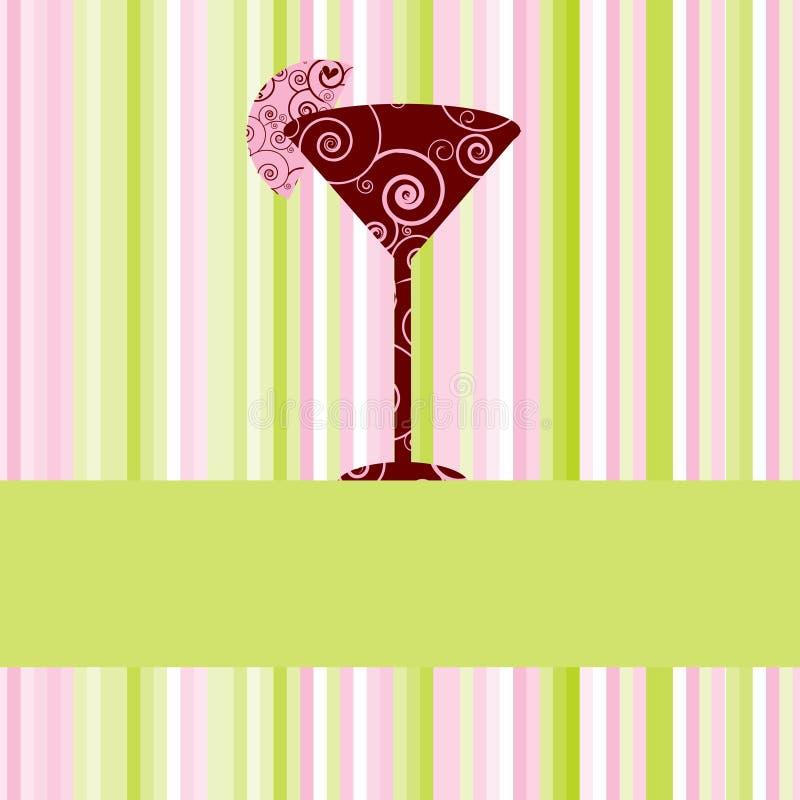 Menu ou cartão da bebida ilustração do vetor