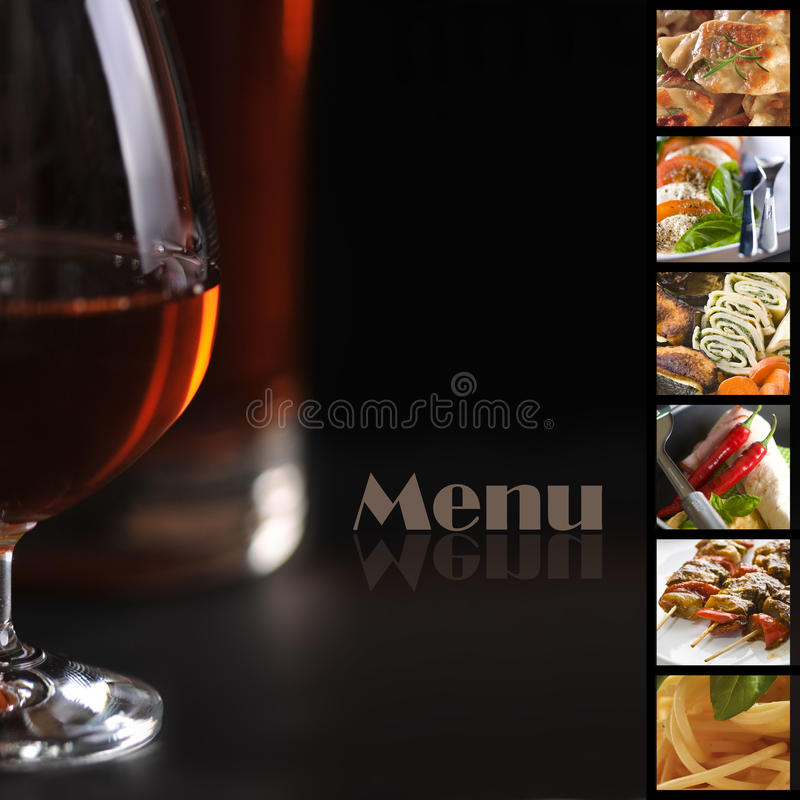 Menu page. Cover page of the restaurant menu royalty free illustration