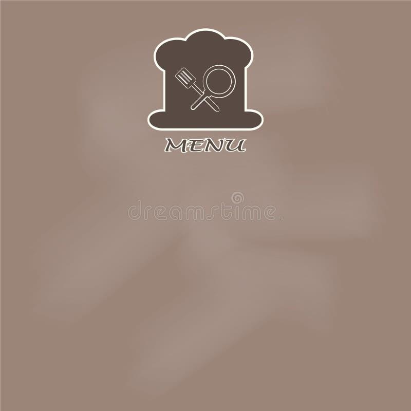 Menu page design. cooking book page concept illustration. Menu page design. cooking book page concept vector illustration background stock illustration